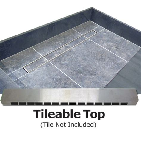 Tileable Shower Pan by Redi Trench Shower Pan And Bench 30 X 60 Left Trench