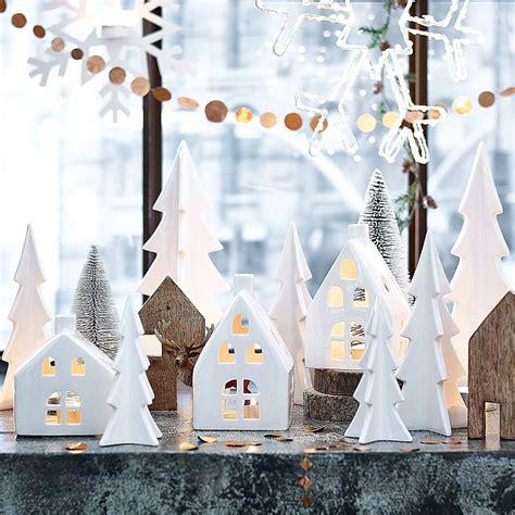 Weihnachtsdeko Fensterbank Beleuchtung by Dekoobjekt Baum Keramik Wei 223 Ca D 7 5 X H 15 5 Cm