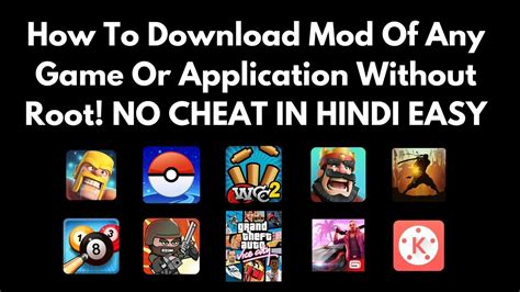game mod hack apk no root how to download mod apk of any game no root in hindi
