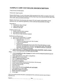 Ymca C Counselor Sle Resume by Doc 12751650 C Counselor Description Cover Letter For Summer C Counselor Cover