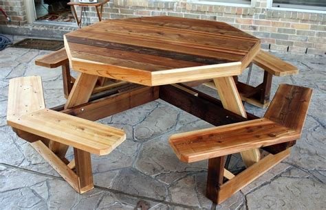 pdf plans octagon wooden picnic table diy murphy