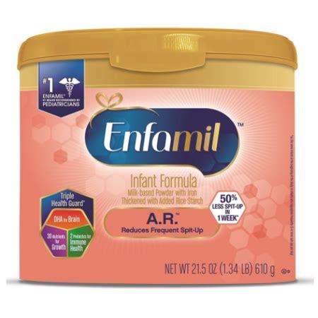 enfamil a.r.infant formula for spit up, powder, 21.5 oz