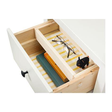 hemnes chest of 2 drawers white stain 54x66 cm ikea