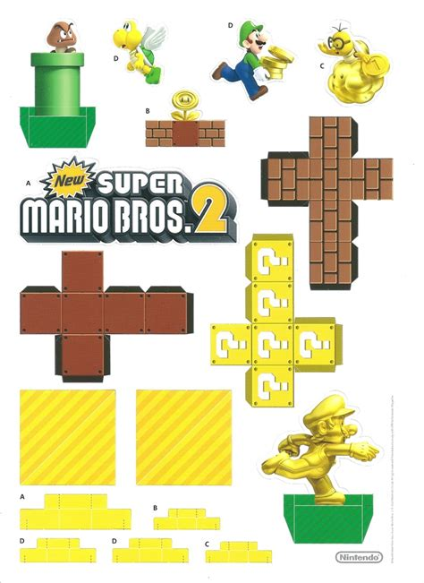 Paper Craft Mario - mario bros 2 papercraft diorama summer stuff for