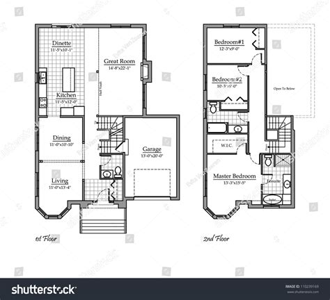 room names two storey floor plan room names stock illustration 110239169