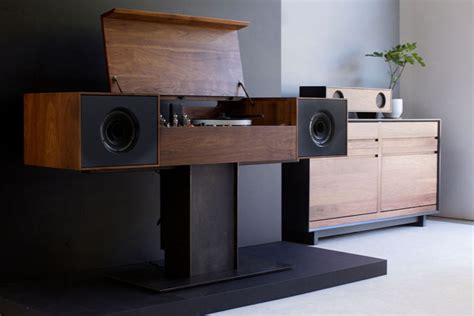 bandg meubels oene modern record console by symbol audio