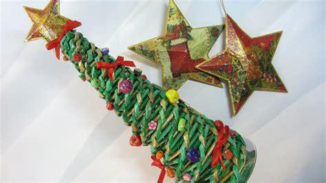 como hacer arbolitos de navidad como hacer un 225 rbol de navidad hecho con papel peri 243 dicos tree made with newspaper
