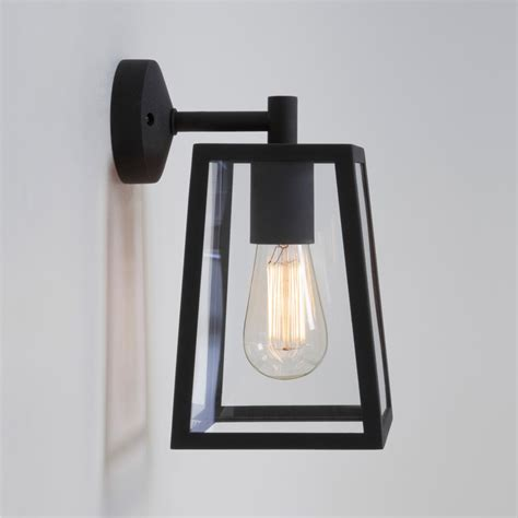 outdoor wall lights black astro 7105 calvi black exterior modern wall lantern at