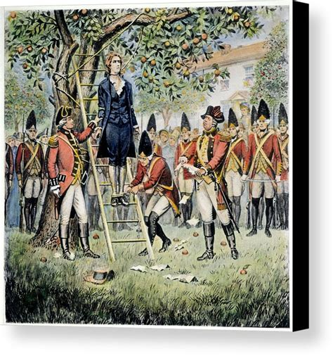 hanging prints hanging of nathan hale canvas print canvas by granger
