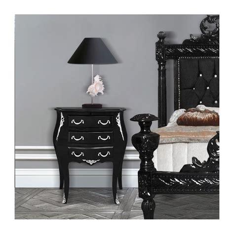 table de nuit baroque table de nuit chevet commode baroque en bois noir