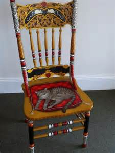 stuhl lackieren painted cat chair by andrea ellwood