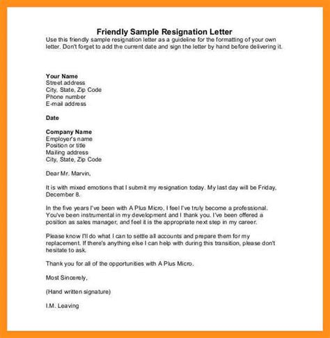 My Resignation Letter by 10 What To Write In My Resignation Letter Agenda Exle
