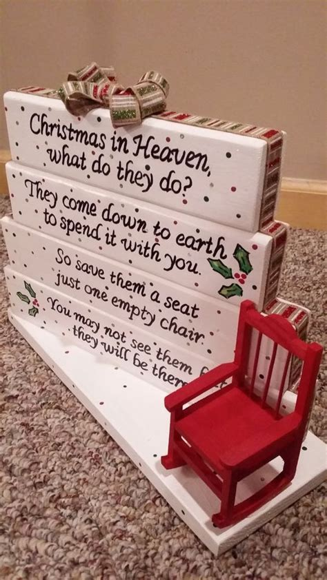 christmas ideas fpr someone who lost a loved one in heaven handmade and poem on