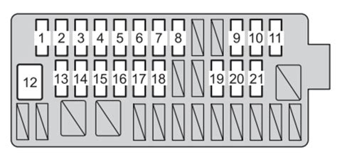 toyota yaris hatchback from 2014 fuse box diagram