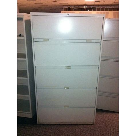 Used Steelcase 5 Drawer Lateral File Cabinet 42 Inch Width 5 Drawer Lateral File Cabinets