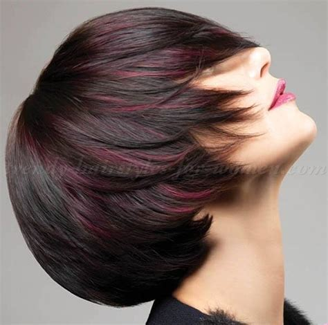 brown highlited bob haircuts brown bob hairstyles with highlights dark brown hairs