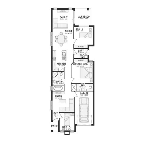 narrow floor plans floor plans for narrow blocks ahscgs