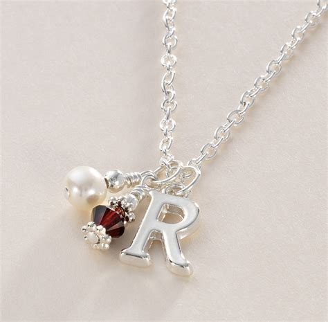 birthstone necklace with letter charm jewels 4
