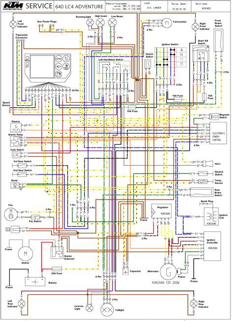 ktm 450 exc wiring diagram webtor me