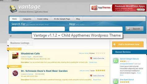 wordpress tutorial vantage vantage v1 1 2 child appthemes wordpress theme