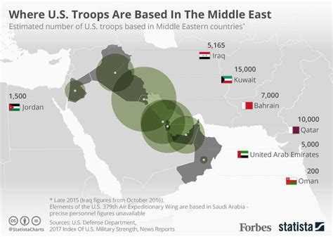 Top Mba Universities In Middile East by Where U S Troops Are In The Middle East Infographic