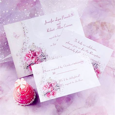 wedding invitations with pink roses top 5 butterfly wedding invitations and wedding cakes