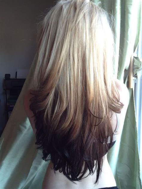 reverse ombre hair color for brunettes straight hair extensions vpfashion