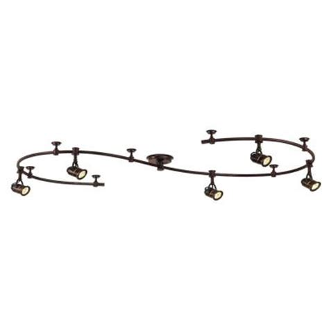 hton bay 10 ft 5 light antique bronze retro pinhole