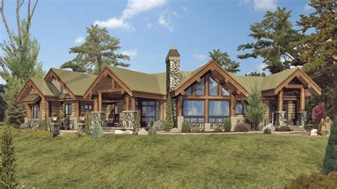 large one story log home floor plans single story log home