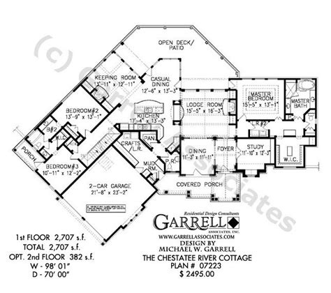 garrell floor plans chestatee river cottage house plan house plans by