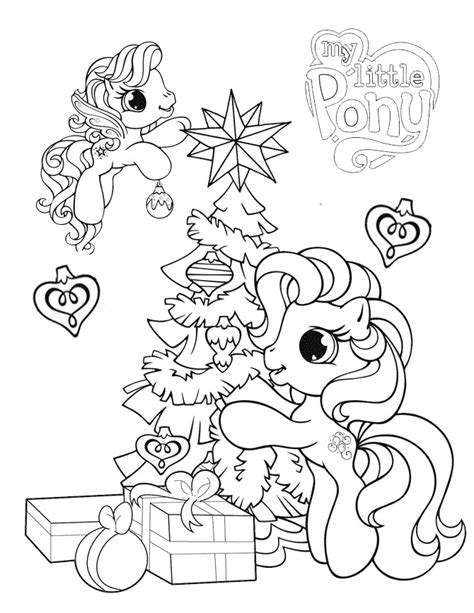 little pony christmas coloring pages my little pony and christmas tree coloring page h m