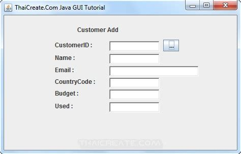 gui design tutorial java how to use java gui choose data from jdialog to main frame