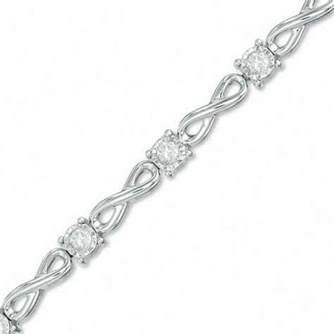 1/2 CT. T.W. Diamond Infinity Link Bracelet in 10K White Gold   View All Bracelets   Bracelets