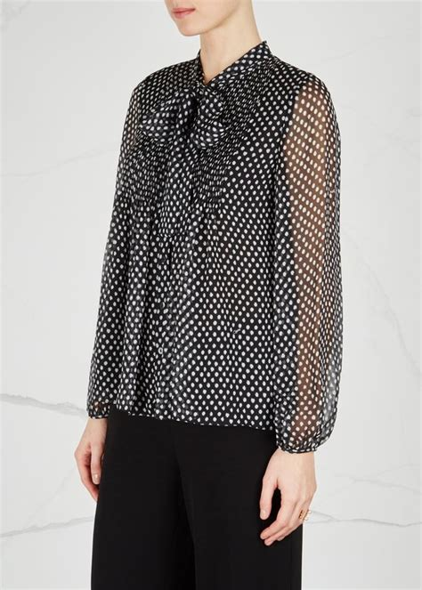Tiny Batik Blouse diane furstenberg marjorie s polka dot shirt dotted batik tiny black