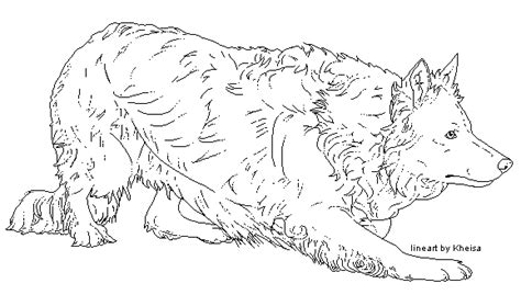 coloring page border collie border collie pixel lineart by kheisa on deviantart