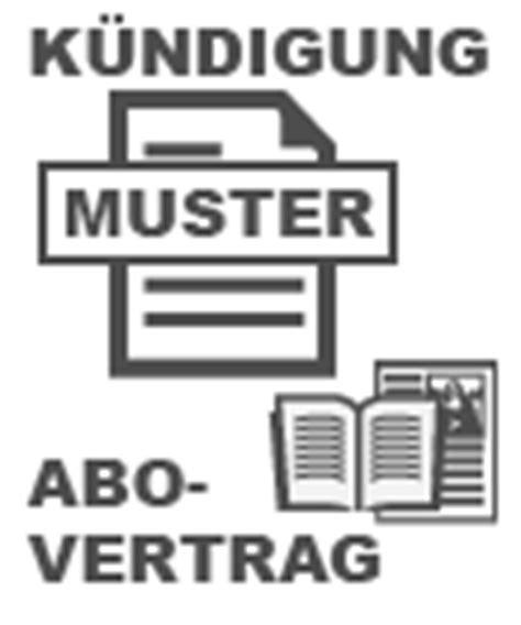 Muster Zeitschriften Abo Kündigung Beispielbrief K 252 Ndigung Abonnement Zeitung Oder Zeitschrift Abo