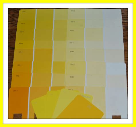 shades of yellow paint shades of yellow color names