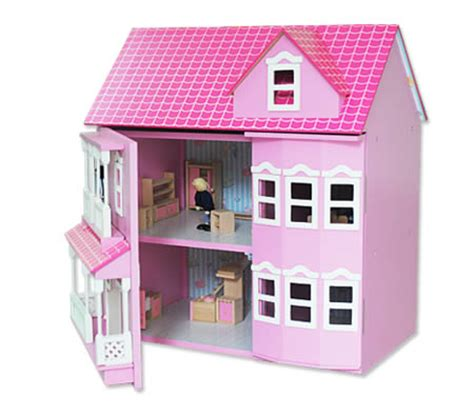 pink doll house wooden doll house pink miniature mansion with accessories online shopping