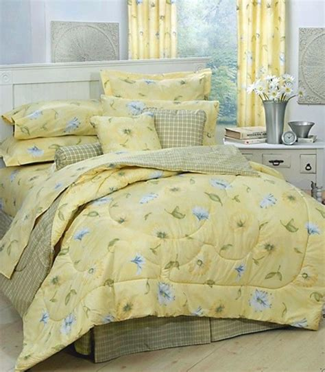 yellow comforter set twin details about karin maki laura yellow daisy floral