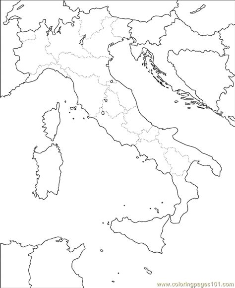 printable maps of italy printable map of italy for kids coloring home