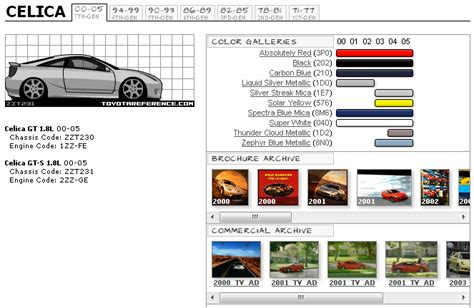 7th paint color codes page 3 toyota celica forum