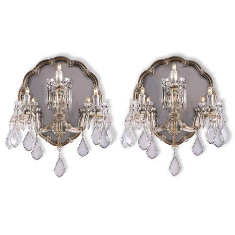 applique antiche applique antiche cristallo bohemia a tre con specchio