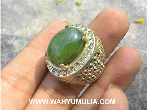 Green Safir batu cincin permata green safir kode 342 wahyu mulia