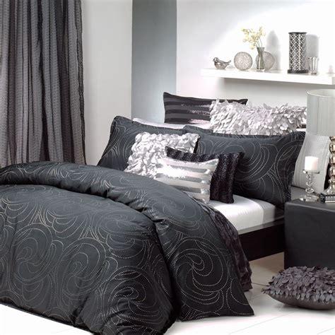 black silver quilt cover set silver bedroom black