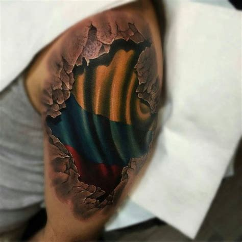 colombian tattoos designs flag respect colombia 3d