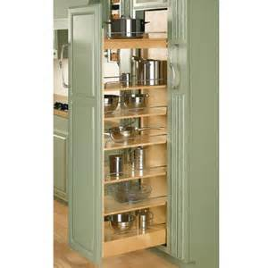 pantry drawers: rev a shelf tall wood pull out pantry with adjustable shelves for