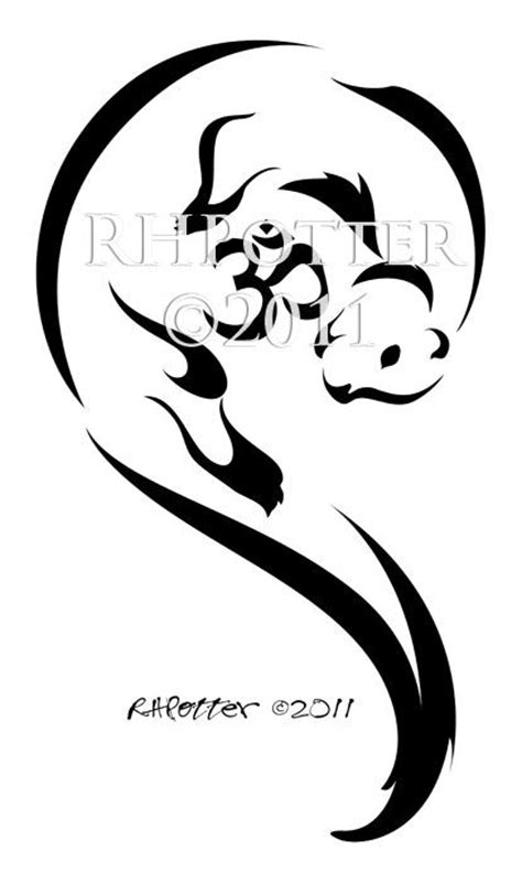 tribal otter tattoo om otter by rhpotter deviantart on deviantart would