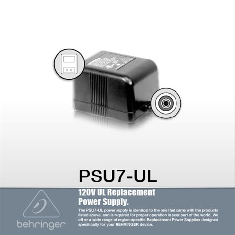 Behringer Psu10 Eu Replacement Power Supply For Dsp110 Fbq100 อ ปกรณ เสร มอ ปกรณ เสร ม behringer