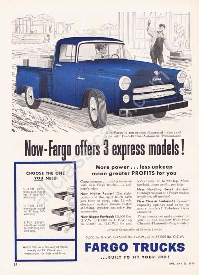 different bed sizes fargo truck based vintage collectable ads