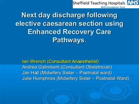 next day discharge following elective caesarean section